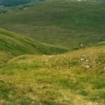 Upper extent of the wreckage trail on Sgurr nan Ceannaichean, crash site of Armstrong Whitworth Whitley P4996
