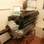 Rolls Royce Merlin engine recovered from the crash site of Supermarine Spitfire Mk.IIA P7295 on Cadair Berwyn, displayed at the Wartime Aircraft Recovery Group museum at Sleap, Wem, Shropshire