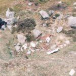Crash site of Supermarine Spitfire PK617 on Commondale Moor, North Yorkshire