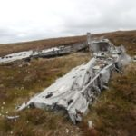 Wreckage of Fairey Barracuda Mk.III PM870 on Col Bheinn, Brora, Sutherland