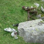 Aircraft wreckage, probably from Avro Anson Mk.I LT116, on Mynydd Perfedd