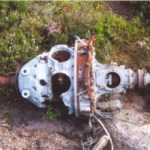 Armstrong Siddeley Cheetah engine at the crash site of Airspeed Consul (Oxford) TF-RPM on Crow Stone Edge, Howden Moors