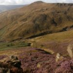 View of the crash site of Vickers Wellington W5719 on Far Upper Tor, Kinder Scout, Edale