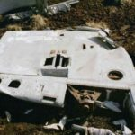 Wreckage scattered about the crash site of Gloster Meteor WD778 on Knock Fell, Dufton, Cumbria
