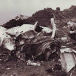 Crash site of Gloster Meteor WH383 and WH384 near Edgworth, Bolton, Lancashire