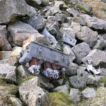 Engines at the crash site of de Havilland Dominie X7394 on Broad Crag, Scafell Pike