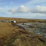 crash site of Catalina Z2148 on Willa-mina Hoga, Isle of Yell, Shetland