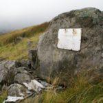 Memorial at the crash site of Halifax Mk.II BB310 on Great Dun Fell, Cumbria