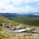 Wreckage at the crash site of B-24 42-41030 on Beinn Nuis, Isle of Arran