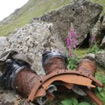 Crash site of B-17G 42-97286 on Beinn Nuis, Isle of Arran