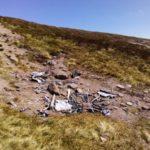 Crash site of Vickers Wellington Mk.IA L7775 on Bruach Mhor, Beinn a'Bhuird, Aberdeenshire